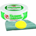 No.7 White Polish Compound, Microfiber Cloth & Foam Pad Kit