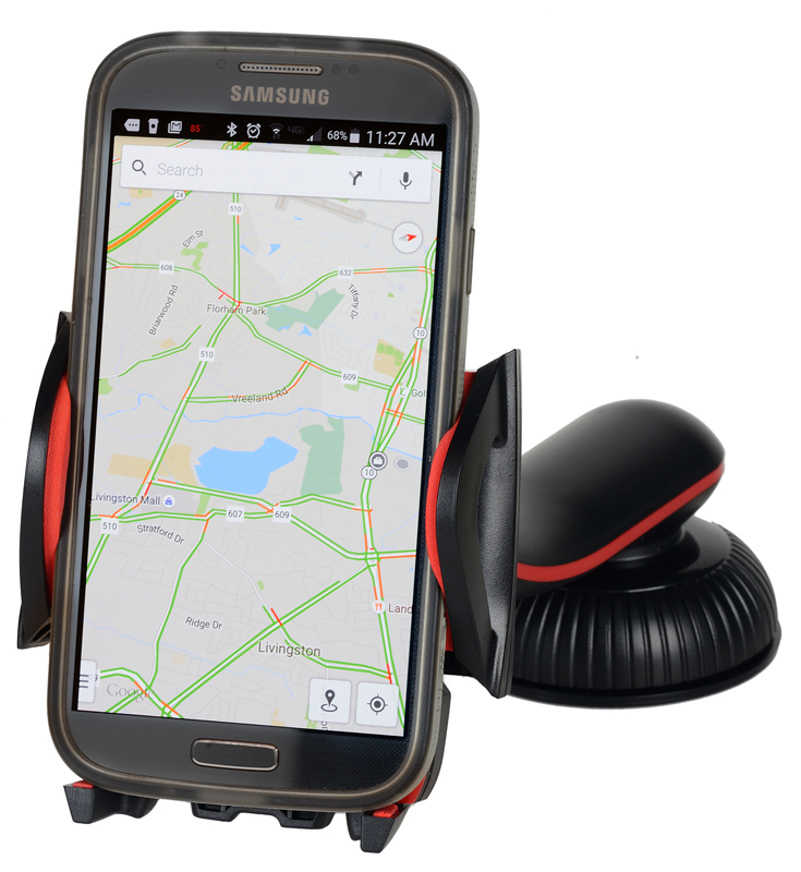 One Touch Dashboard & Windshield Mounted Smartphone Holder
