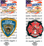 Our Heroes Air Fresheners - Police & Fire Dept. (3 Pack)