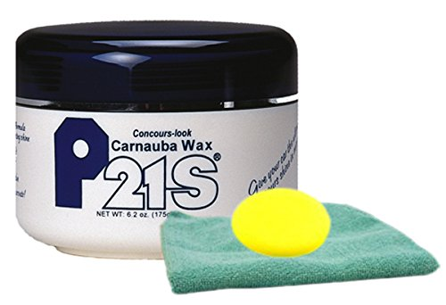 P21S Concours-Look Carnauba Paste Wax Microfiber Cloth & Foam Pad Kit