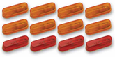 Pacer Red & Amber Auxiliary Running Lights Combo Kit (12 Lights)