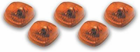 Pacer Dodge Style Amber Five Cab Roof Running Lights Kit (1994-1998)