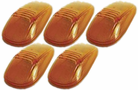 Pacer Dodge Style Amber Five Cab Roof Running Lights Kit (1999-2002)