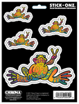 Peace Frog Self-Adhesive Decal