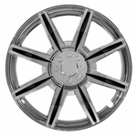 "Pilot Automotive Chrome 8 Spoke 16"" Wheel Cover with Black Inserts, (Set of 4)"