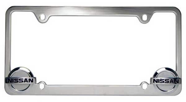 Nissan Logo Chrome License Plate Frame