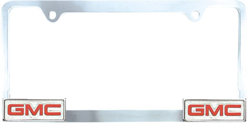 pilot chrome plated gmc license plate frame