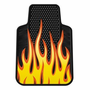 Yellow Flames Rubber Car Floor Mats (Pair)