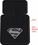 PlastiColor Silver Superman Floor Mats