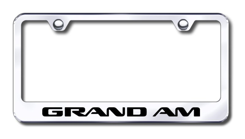 Pontiac Grand Am Laser Etched Stainless Steel License Plate Frame