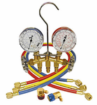 R134A Brass Manifold Gauge Set With Brass Standard Couplers