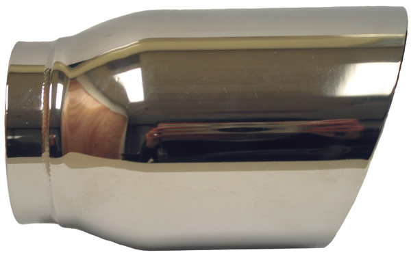 """Ractive 2"""" Chrome Round Slant Cut Weld-On Exhaust Tip T263"""
