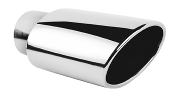 """Ractive 3-1/8"""" Oval Rolled Edge Weld-On Exhaust Tip T821"""
