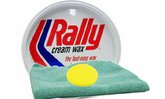 Rally Cream Wax (10 oz.), Microfiber Cloth & Foam Pad