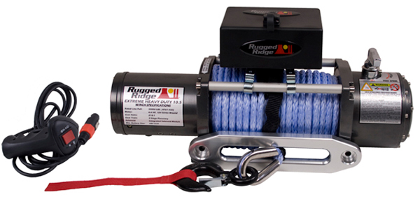 Rugged Ridge 10500 Lb. Performance Winch W/Synthetic Rope