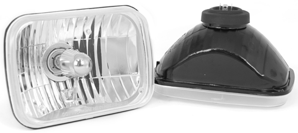 Rugged Ridge 200MM Rectangular Crystal H2 Conversion Headlights Pair