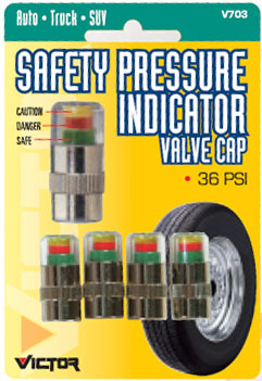 Safety Pressure Indicator Valve Stem Caps