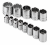"SK Tool 13 Piece 3/8"" Drive 12 Point Standard Fractional Socket Set"