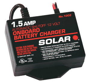 Solar 1.5 Amp 12V Automatic On-Board Battery Charger