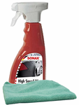 Sonax High Speed Spray Wax (16.9 oz) & Microfiber Cloth Kit