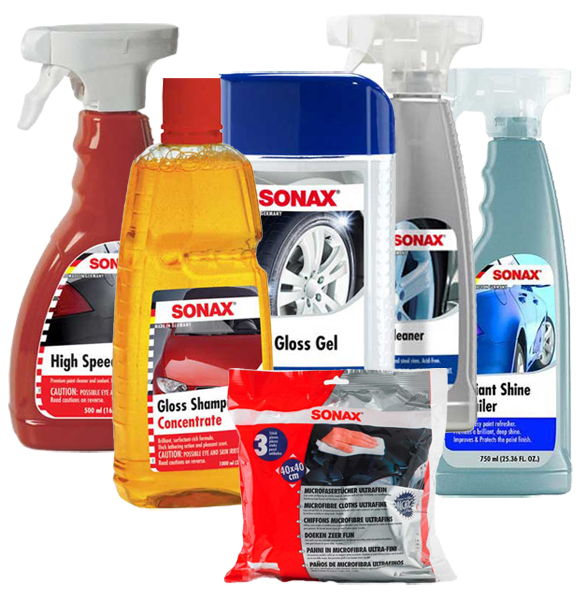Sonax Premium Car Wash Wax & Tire Care Kit