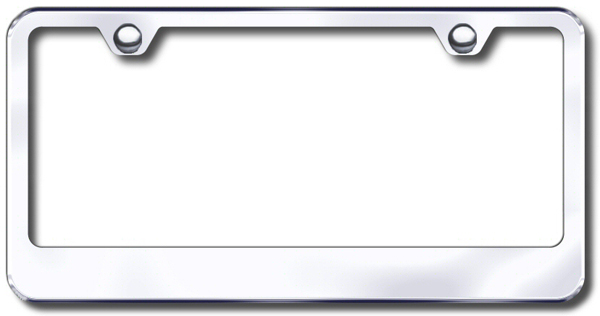 stainless steel polished license plate frame