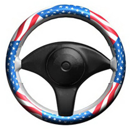 Stretchy Grip American Flag Steering Wheel Cover