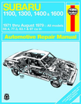 Subaru 1100, 1300, 1400 & 1600 Haynes Repair Manual (1971-1979)