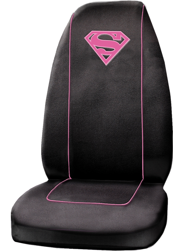 Supergirl Shield Logo Seat Cover