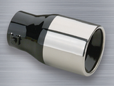 "Superior Stainless Steel Round Bolt-On Exhaust Tip (1¾"" to 2¼"" x 6"")"