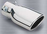 "Superior Stainless Steel Slant Cut, Oval Bolt-on Exhaust Tip (4"" x 7"")"