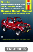 Suzuki Samurai/Sidekick/X-90 & Vitara and Geo & Chevrolet Tracker Haynes Repair Manual (1986-2001)