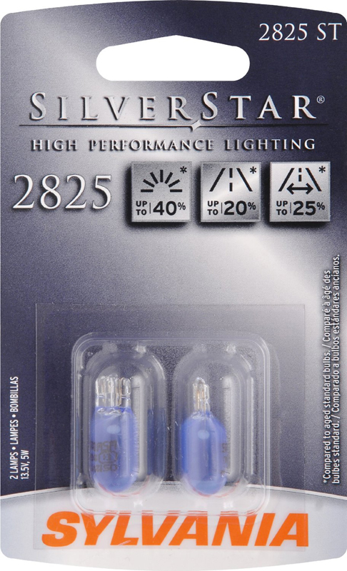 Sylvania Silverstar 2825 High Performance Miniature Bulbs Pair