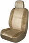 Tan Memory Foam Low-Back Bucket Seat Cover