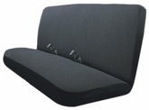 Terry Velour Black Bench Seat Cover