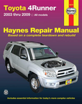 Toyota 4Runner Haynes Repair Manual (2003-2009)