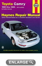 Toyota Camry (1992-1996) & and Avalon (1995-1996) Haynes Repair Manual