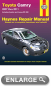 Toyota Camry and Avalon & Lexus ES 350 Haynes Repair Manual (2007 -2011)
