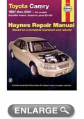 Toyota Camry, Avalon, and Solara & Lexus ES300 Haynes Repair Manual (1997-2001)