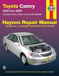 Toyota Camry Haynes Repair Manual (2002 - 2006)