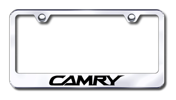 toyota camry laser etched stainless steel license plate frame