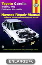 Toyota Corolla Haynes Repair Manual (1984-1992)