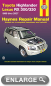 Toyota Highlander & Lexus RX 300/330 Haynes Repair Manual (1999-2007)