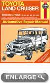 Toyota Land Cruiser Haynes Repair Manual (1968-1982)