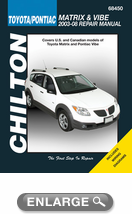 Toyota Matrix & Pontiac Vibe Chilton Repair Manual (2003 - 2008)