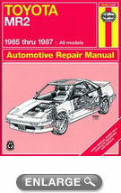 Toyota MR2 Haynes Repair Manual (1985 - 1987)