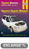 Toyota Sienna Haynes Repair Manual (1998-2009)