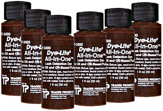 Tracerline Dye-Lite All-In-One Oil Dye Kit 6 ct.