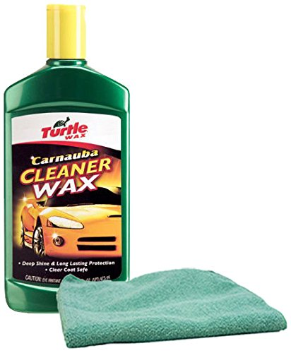 Turtle Wax Carnauba Liquid Wax 16 oz. & Microfiber Cloth Kit