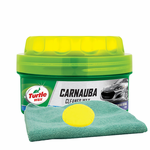 Turtle Wax Carnauba Paste Wax (14 oz.), Microfiber Cloth & Foam Pad Kit
